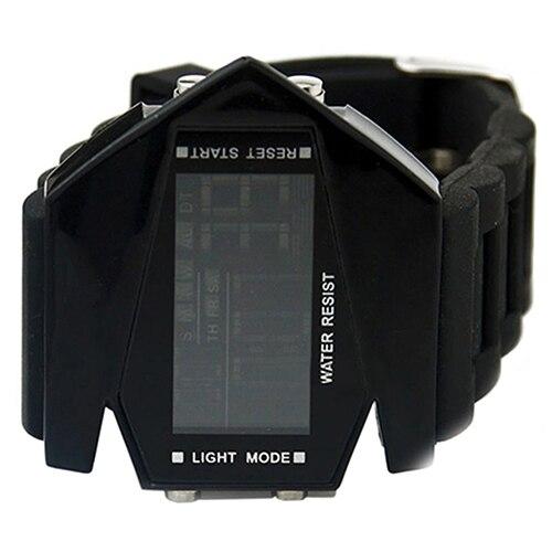 Fashion Top Brand Luxury Cool Men's Oversized Design Light Digital Sports Plan Shaped Dial Wrist Watch 7
