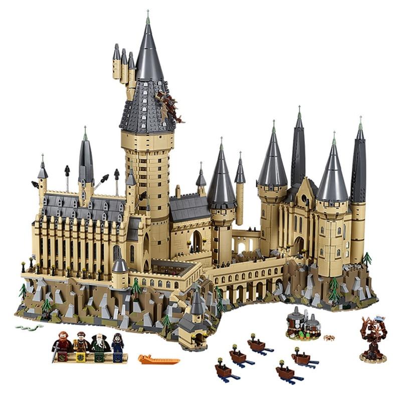Harry Film Potter Poudlard Château Modèle Blocs de Construction Compatible legoings 71043 16060 16030 Briques Jouets De Noël Cadeau