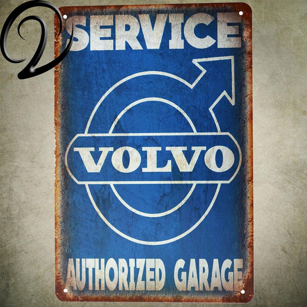 Service Authorized Garage Tin Signs 20*30cm Bar Pub Home Wall ...