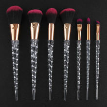 Модный набор кистей для макияжа 7 шт кристальная ручка растушевки