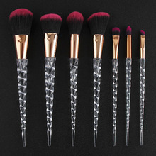 Fashion 7pcs Makeup Brushes Set Crystal Handle For Foundation Blending Power Cosmetic Beauty Tool  pinceaux