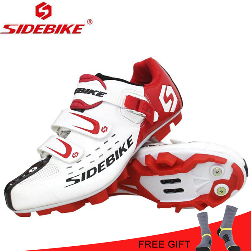 SIDEBIKE Cycling mtb Shoes Men Pro Mountain Bike Shoes Self Locking Athletic Breathable Bicycle Shoes Zapatillas