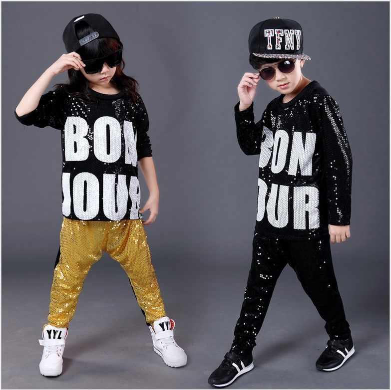 Envío libre hombre mujer lentejuelas hip-hop DS danza jazz ropa paillette  camiseta leotardo Pantalones 53826c5004b