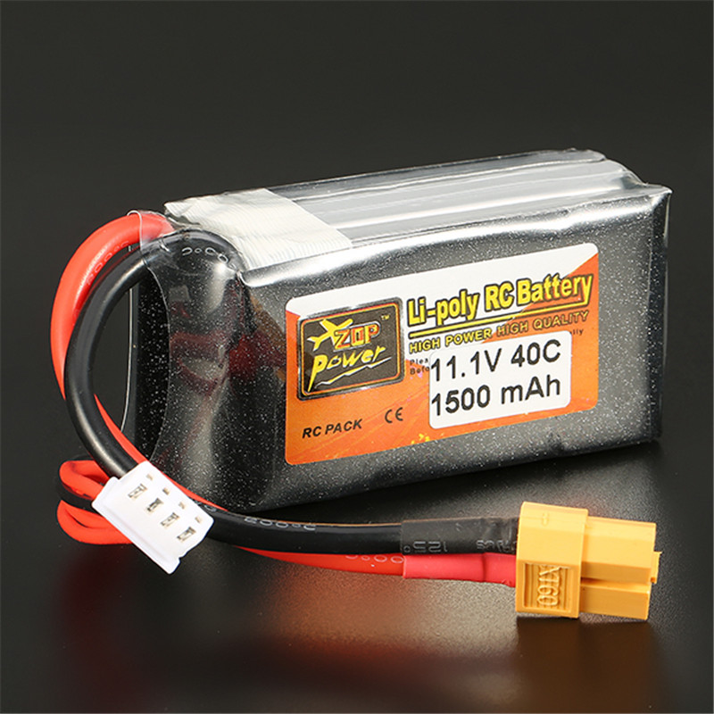 Reachargeable Lipo Battery ZOP Power 11.1V 1500mAh 40C 3S Lipo Battery XT60 Plug For RC Model zop power 7 4v 8000mah 2s 40c lipo battery rechargeable for trx plug connector battery alarm indicator traxxas rc multicopter