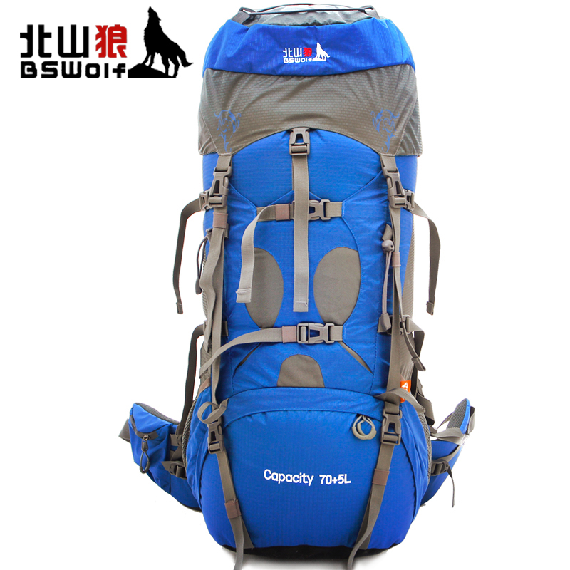 75L Outdoor Climbing Bag Sport Bag Waterproof Travel Backpack Hiking Backpacks Mountaineering Bag Sports Backpack + Rain Cover
