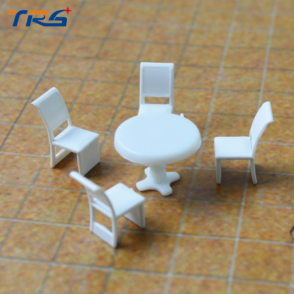 1 100 inner landscape scenery model set round dining table Scale model furniture