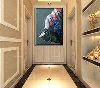 C Книги по искусству Ун животного смешные рыбы синий акрил, масло Холсты для рисования Книги по искусству настенная фотографии украшение дл...