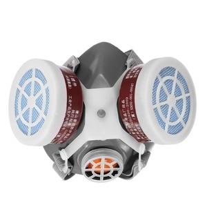 Image 2 - עשן גז מסכת הנשמה מגן ציור ריתוך בטיחות כימי רעיל גזים מיכלי נגד אבק מסנן צבאי במקום העבודה