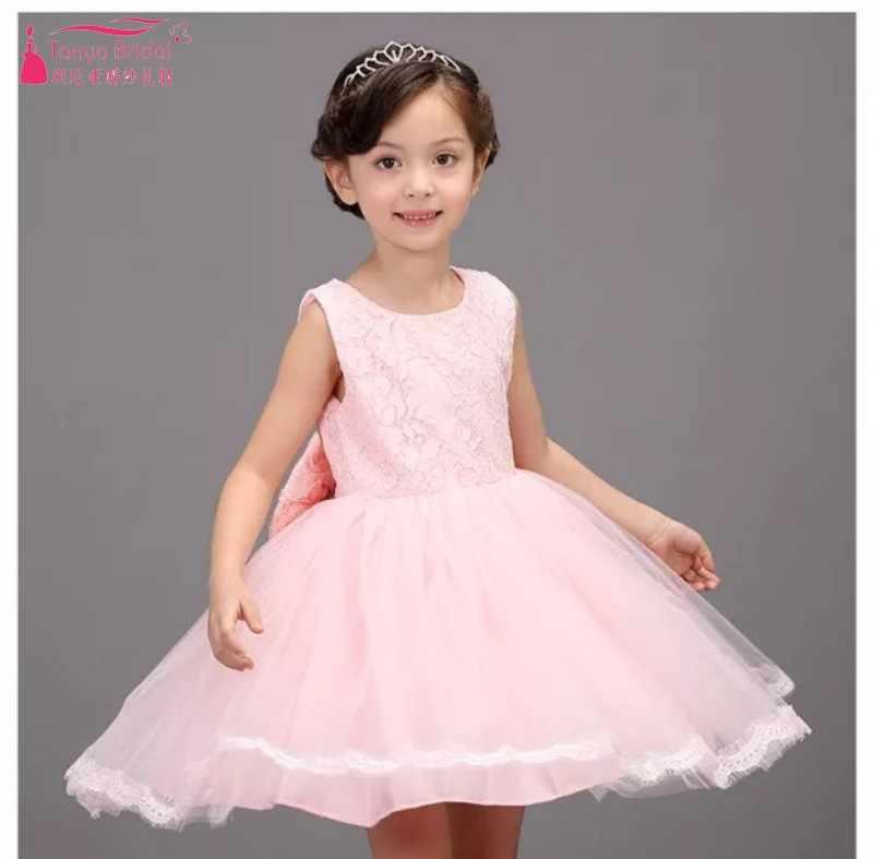 d80860e9e ... Vestido de niña de las flores vestido de las niñas de moda de encaje de  color ...