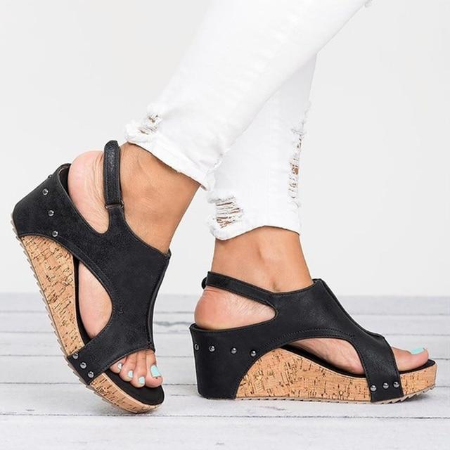 Women Sandals 2018 New Platform Sandals Casual Summer Shoes Female Peep Toe  Wedges Shoes For Women 9cm High Heels Sandals 35-43