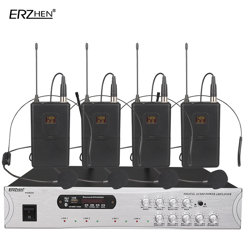 Microphone Amplifier all in one machine 900H 4 channel wireless Bluetooth Built in FM radio USB SD card MP3 PLAYER high under on