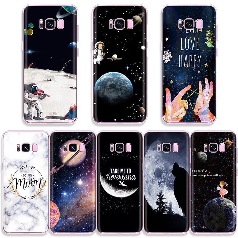 <font><b>Funny</b></font> Astronaut Printed <font><b>Case</b></font> For <font><b>Samsung</b></font> Galaxy A70 A50 A40 A10 A30 <font><b>A20e</b></font> S10e S3 S4 S5 Mini S6 S7 Edge S8 S9 S10 Plus Soft Cover image