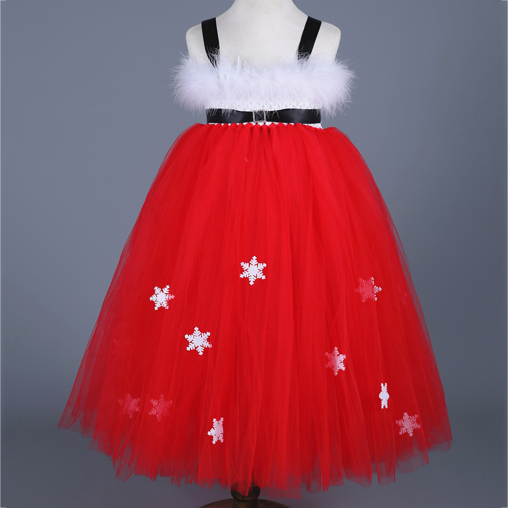 Girls Christmas Xmas Dresses Kids Girls Princess Party Carnival Tutu Dress Baby Girl Red New Year Fancy Party Dress Up Outfits summer 2017 new girl dress baby princess dresses flower girls dresses for party and wedding kids children clothing 4 6 8 10 year