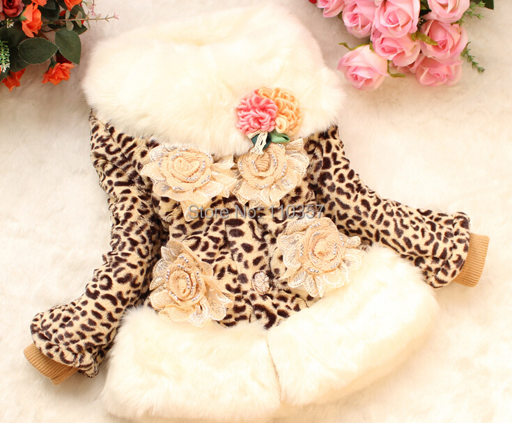 Luxury Girls Faux Fur Coat Fox Fur Collar Fish Scale Pattern Jacket