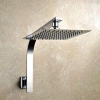 8 Inch Premium Quality Stainless Steel Rainfall Shower Head Extension Gooseneck Shower Arm Set Chrome 03