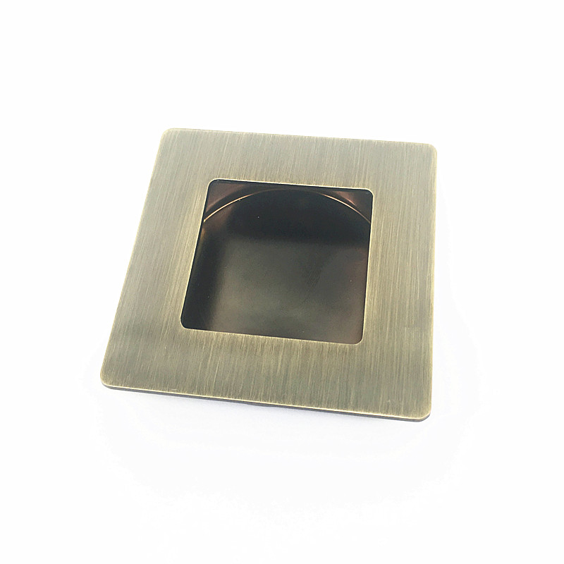 8pcs/lot Furniture Bronze Hidden Handle Square Modern Cabinet Cupboard Door Handle Wardrobe Drawer Invisible Knobs Pull 70mm