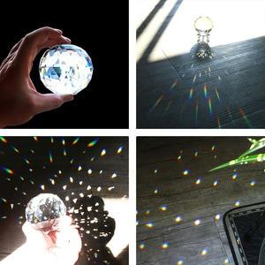 H & D 80mm Klar Cut Kristall Suncatcher Ball Prismen Glas Kugel Faceted Blickte Ball Kristalle für Fenster, sonne Fänger Wohnkultur
