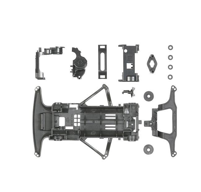 Free Shipping 1 Set Carbon Reinforced Super FM Chassis Set For Tamiya Mini 4WD Racing Car Model 94800 Spare Parts free shipping ms msl chassis spare parts set kit for diy tamiya mini 4wd rc racing car with dual shaft motor