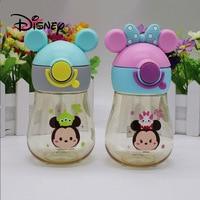Disney 300ML Minnie Mickey Mouse Cartoon Duckbill Bottle Cups Kids Baby Sport Bottles Girls Feeding Cups Summer Kids Cup