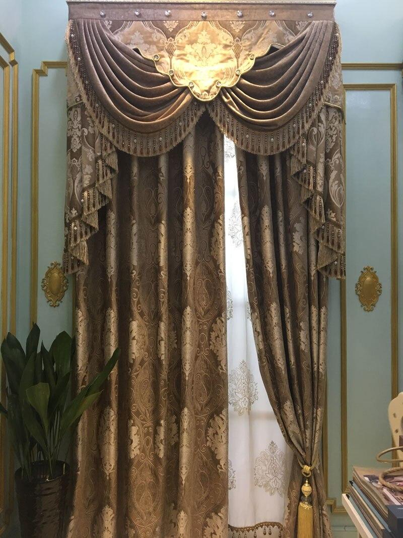 jacquard chenilla cortinas para la sala de estar cortinas gruesas para comedor dormitorio ventana