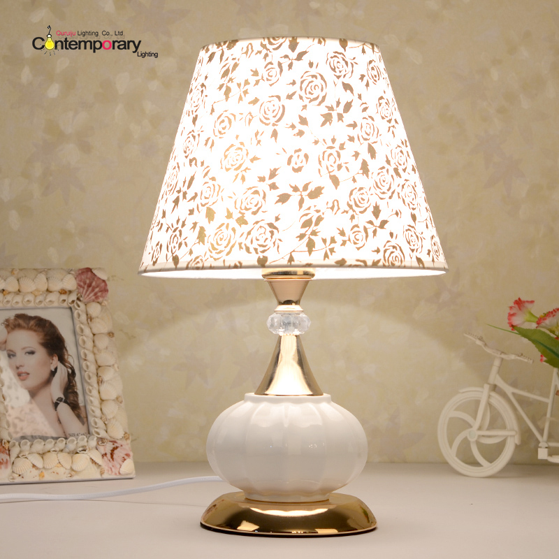 Bedroom bedside table lamp ceramic lamp simple children's creative fashion garden wedding dimmable lighting Reading Table Light ceramic table lamp bedroom bedside lamp european style garden wedding fashion warmly decorated lamp dimmable