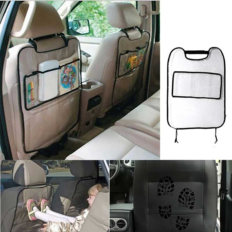 Auto Car Back Seat Protector Kid Kicking Mat Clear Car Pad PVC Waterproof Car Seat Back Cover For Kids Infant Covers