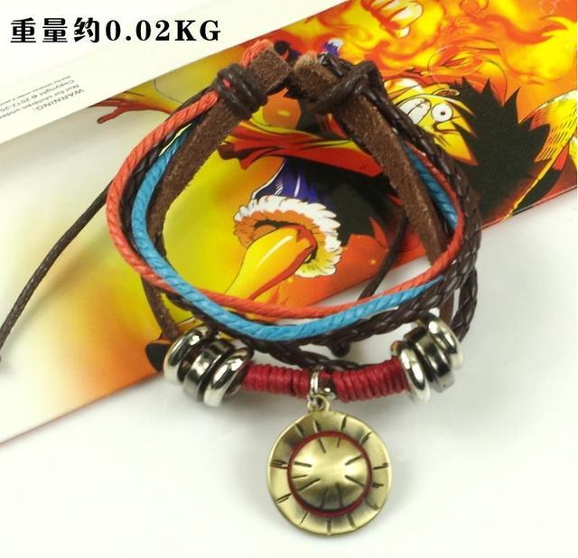 One Piece anime Cosplay Accesorios luffy sombrero colgante vintage pulsera  10 unids lote alta calidad a7fc61a02e8