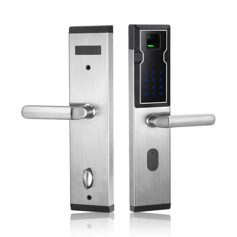цена на High Security Stainless Steel Cheap Smart Keyless Keypad Password Lock Digital Code Biometric Wireless Fingerprint Door Lock