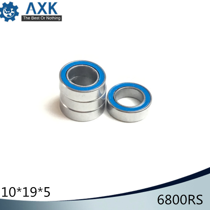 6800RS Bearing ABEC-3 (10PCS) 10*19*5 mm Thin Section <font><b>6800</b></font>-2RS Ball Bearings 61800 RS <font><b>6800</b></font> 2RS With Orange Sealed L-1910DD image