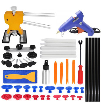 PDR tools Dent Removal Tools paintlees pop dent Repair Tools Kit with Auto Trim Tools Dent Puller Pops Bridge Puller pdr puller auto body tools dent puller kit spotter stud welder spot welding gun washer chuck holder car bodywork dent repair automotive