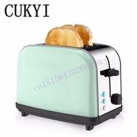 CUKYI тостер винтажный бытовой из нержавеющей стали автоматический тостер 2 шт. 4 см Слоты британская вилка 1000 Вт быстрый нагрев завтрак