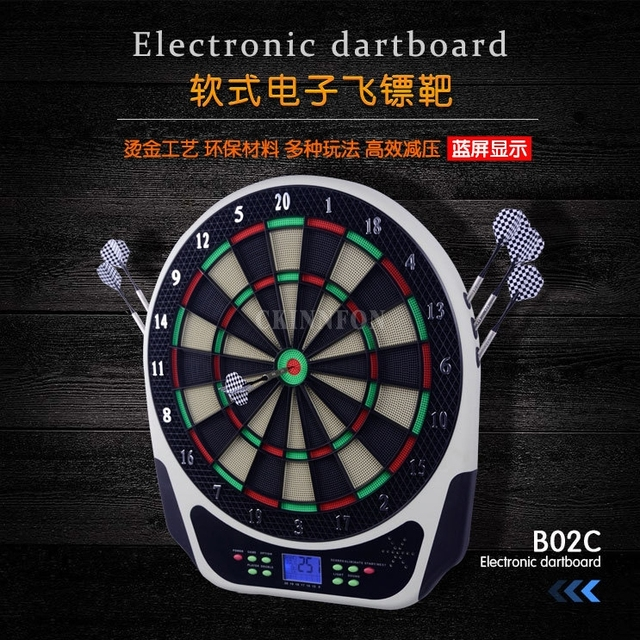 dhl 2pcs indoor sport scoring board dartboard led display