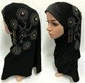La Manera de Señora Hot Taladro Floral Chales Árabe Musulmán Hijab Islámico Bufanda Headwear