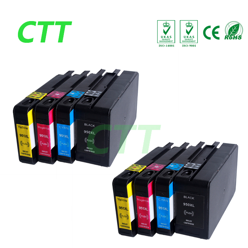 Ink cartridge compatible for HP950XL 951XL for HP Laserjet 8610 8620 8680 8615 8625 8600 8630 8100 8610 8660 full ink with chip