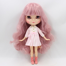 Icy Factory Nude Blythe Doll Joint Body Light Pink Hair Free Gift