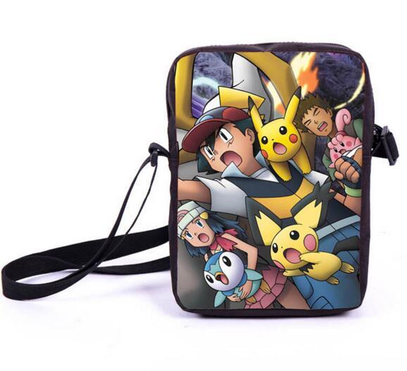 Anime Pokemon Pikacun Mario Dragon Ball Mini Messenger Bag Girls Boys School Bags Kids Book Bag Shoulder Bags For Snacks Lunch