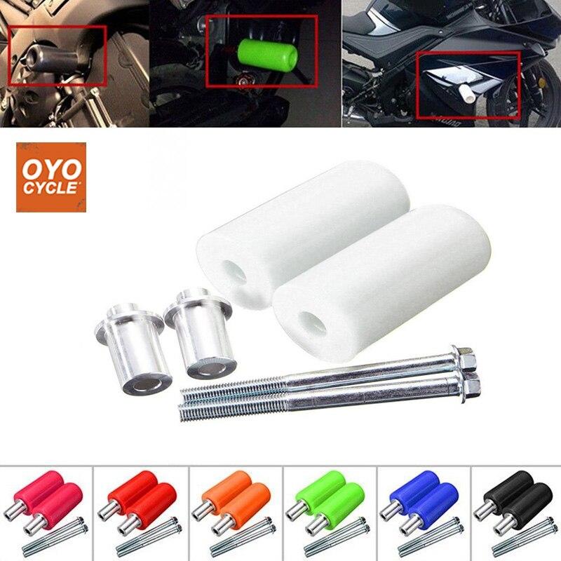 Paire universelle 10mm moto cadre curseur Anti Crash Pad Protection contre les chutes pour Yamaha Honda Suzuki moto accessoires partie