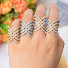 SISCATHY Luxury Noble African Dubai Rings for Women Romantic Daily Party Attractive Charms Cubic Zirconia Jewelry Wedding