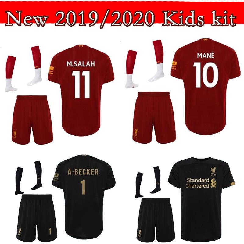 509c461bbde85 19 20 children new arrive Liverpool soccer Jersey kids M.SALAH MANE Home soccer  shirt Liverpool kids jersey shirt free ship
