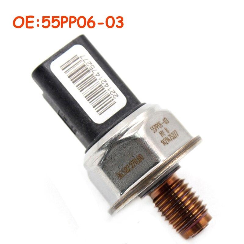 55PP06-03 9658227880 For Peugeot 107 206 207 307 308 407 Partner 1.4 1.6 Hdi 96.582.278.80 1920.GW Car Fuel Rail Pressure Sensor