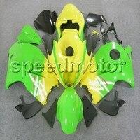 Tank kapağı + GSXR1300 1997 2007 1300 97 98 99 00 01 02 03 04 05 06 07 sarı yeşil motosiklet Fairing Suzuki için Hayabusa