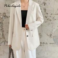 Fashion trend wind blazer 2019 Female Solid Vintage Long Sleeve Blazer coats For Office Lady 2 Button Blazer Femme suit Jacket