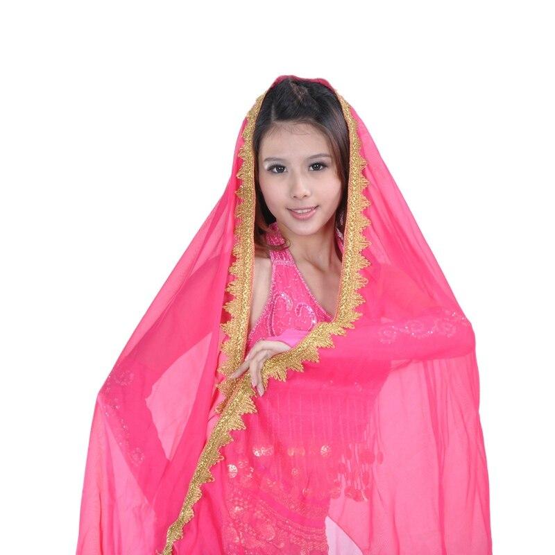 Belly Dance Big Veil Shawl High Quality 120D Chiffon Tribal Headscarf Gypsy Scarves Dance Shawls Gypsy Shawl Big White Chiffon