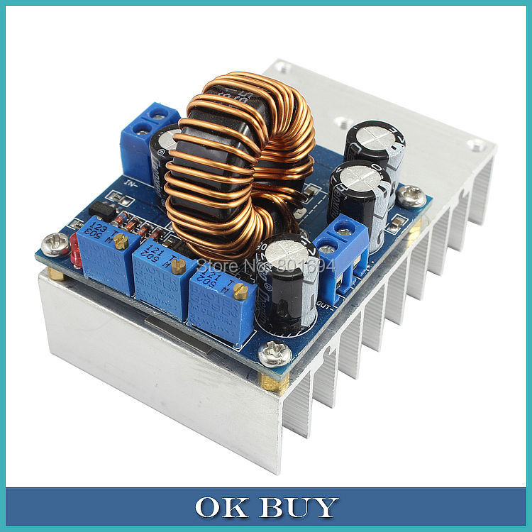 DC-DC Efficient 12A Power Adjustable Step-Down Constant Voltage Constant Current Lithium Battery Charging LED Drive Power Module maitech dc dc step down constant voltage constant current module yellow