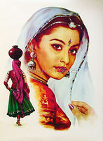 art painting on canvas for sale India painting face paint Woman Oil Painting on Canvas Wall Painting Canvas for Wall Decoration