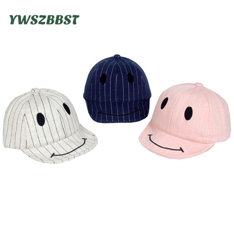 Новый Повседневное летняя детская Бейсбол Кепки s Осень мальчики девочки ВС Hat хлопок детская шапка милой улыбкой мягкий Карнизы дети бейсб...