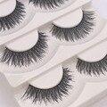 5 pares/lote atacado beauty eye falso lashes preto falso cílios postiços eye lashes famosa marca f1 maquiagem extensão dos cílios cosméticos