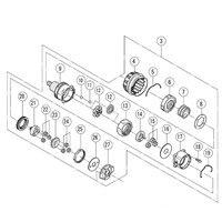 Genuine GEAR BOX ASS Y For Hitachi 323013 DS12DVB2 DS14DVB DS18DVB2 Cordless Drill