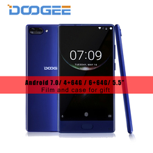 Doogee смешивания смартфон 5.5 «AMOLED ободок-менее helio P25 Octa core 4 г/6 г Оперативная память 64 г Встроенная память Android 7.0 Dual сзади Камера 16MP отпечатков пальцев