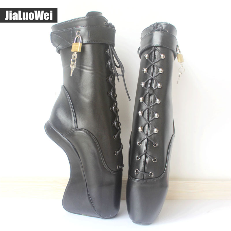 Hoof Jialuowei Pointe Bottines Ballet Femmes Cm Fétiche Bottes Sole Étrange custom Talon Color 7 Sexy Sans Style Black
